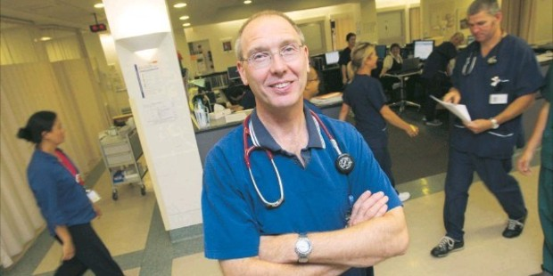 SAFETY CONCERNS: Derek Sage, head of Tauranga Hospital's emergency department, says it needs to sink in with the public that staff deserve respect.