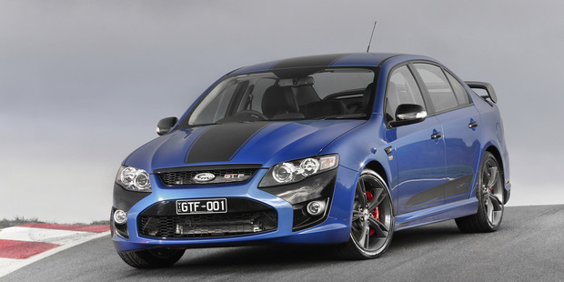 Ford has unveiled the last FPV Falcon, the MKII FPV GTF 351. Photo / Supplied