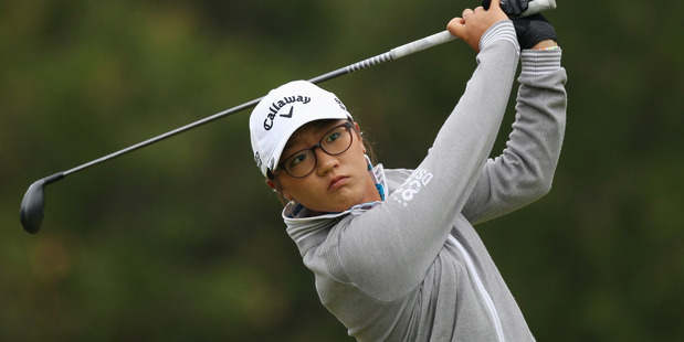 Lydia Ko watches her fairway shot on the third hole in the final round of the Manulife Financial LPGA Classic golf tournament. Photo / AP