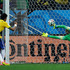 Brazil's Neymar, left, scores his side's second goal from the penalty spot. Photo / AP