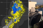 Social media users have been sending in the best of last night's storm. Photo / MetService, supplied