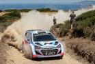 Hayden Paddon in action during the Rally Italia Sardegna. Photo / Honza Fron?k.