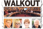 Yesterday's Chronicle front page story about the walkout by councillors.