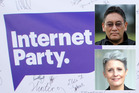 Internet Party leader Laila Harre and Mana Party leader Hone Harawira.