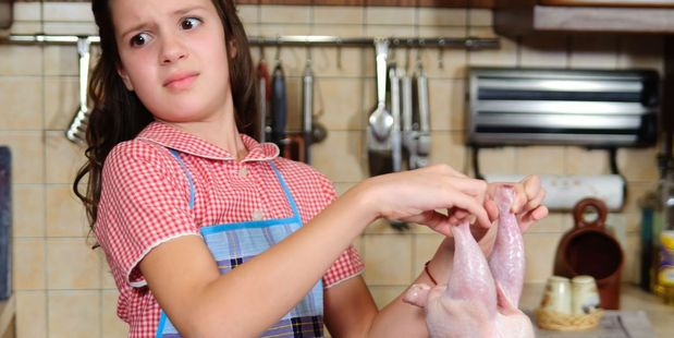 How do you feel about preparing raw chicken? Photo / 123RF