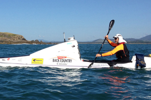 Scott Donaldson has been attempting to row solo across the Tasman, but has been hampered by bad weather and a lack of supplies. Photo / Double Ditch