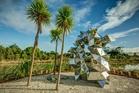 Gregor Kregar's installation Fragmented Interactions adorns the sculpture park.