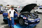 Team NZ speedster Grant Dalton with his 2004 Targa Rally Nissan Silvia race car.