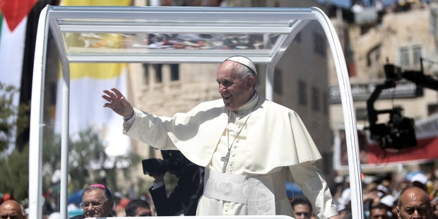 "Pope Francis says the absolute autonomy of markets is the ""new tyranny"". Photo / AP"