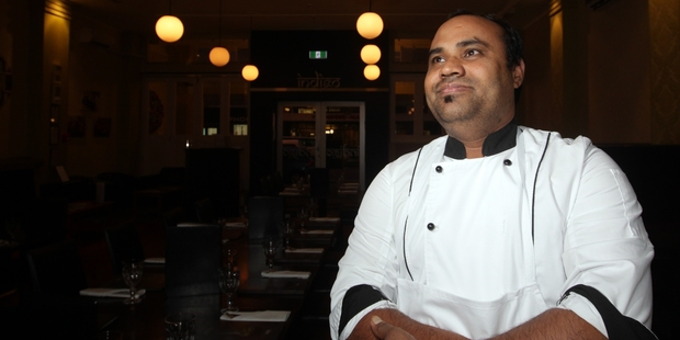 Indigo Restaurant in Napier offers a selection of 10 to 12 traditional North Indian dishes during a traditional Thali Indian Banquet on Saturday, June 28. Head chef Kamlesh Prasad is pictured in the restaurant. Photo/Paul Taylor