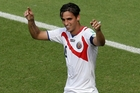 Costa Rica's Bryan Ruiz didn't get what he hoped for but in a good way. Photo / AP