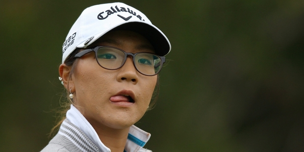 Lydia Ko, who is among the favourites, will have top caddie Mike 'Fluff' Cowan carrying her bag this weekend. Photo / AP