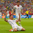 Chile's Eduardo Vargas celebrates after scoring the opening goal during the group B World Cup soccer match between Spain and Chile at the Maracana Stadium in Rio de Janeiro, Brazil. Photo / AP