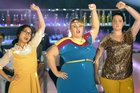 Rebel Wilson, centre, in a scene from Super Fun Night.