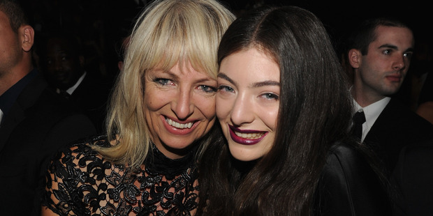 Lorde with her mother Sonja Yelich at the Grammy Awards earlier this year. Photo/AP