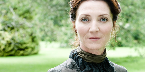 Actress Michelle Fairley as Catelyn Stark in Game of Thrones.