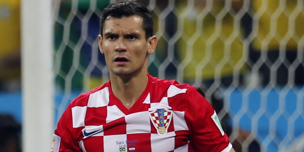 Croatia's Dejan Lovren. Photo / AP