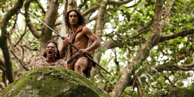 Lawrence Makoare as The Warrior and James Rolleston as Hongi, in an exclusive first look at The Dead Lands.