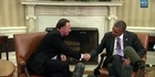 Watch: Raw: John Key meets Obama