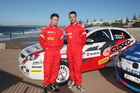 Mike Young and Co-Driver Malcolm Read with their Cusco sponsored Proton. Photo / Asia Pacific Sports Media.