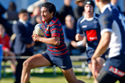 Te Ra Whata will be looking to impose himself against Hamilton Boys' High School this weekend. Photo/Andrew Warner