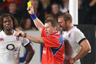 For referees like Nigel Owens, gut feeling is crucial in interpreting rugby's laws. Photo / Getty Images
