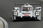 The Porsche 919 driven by Mark Webber, New Zealand's Brendon Hartley and German Timo Bernhard.  Picture / AP