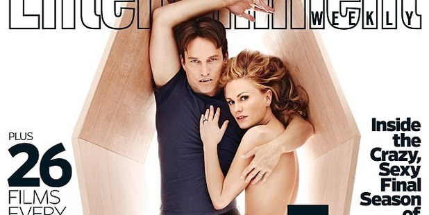 Anna Paquin posed naked with husband and co-star Stephen Moyer for Entertainment Weekly as they opened up about love scenes on True Blood