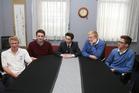 From left: Peter Jackson, 18, Adam Scott, 17, Reece Ratcliffe, 17, Scott Witney, 17, and Tom Carter, 17. Photo / John Borren