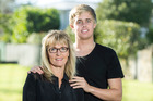 Wendy Southwick with son Nick. Photo / Michael Craig