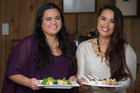 Kasey, left, and Karena say get creative when making canapes. Photo / Michael Craig