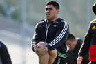 Malakai Fekitoa warms up during the New Zealand All Blacks Wider Training Group. Photo / Getty Images