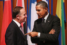 Mr Key says he was nudged up the White House guest list this year by Mr Obama. Photo / AP
