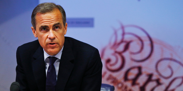 Mark Carney, the Governor of the Bank of England. Photo / AP