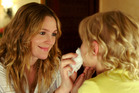 Drew Barrymore, left, as a mum-of-five, and Alyvia Alyn Lind in the Adam Sandler romcom Blended.