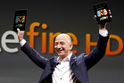 Jeff Bezos, CEO and founder of Amazon, introducing the Amazon Kindle Fire in 2010. The company is set to unveil its new device, a smartphone, on Wednesday in Seattle. Photo / AP