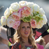 Natalie Kapchuck wears a floral hat on the second day of the Royal Ascot horse racing meeting at Ascot. Photo / AP