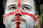 An England fan reacts following Uruguay's 2-1 victory over England in the group D World Cup soccer match between Uruguay and England. Photo / AP