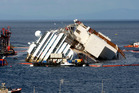 Costa Concordia ship as it lies on its side on the Tuscan Island of Giglio, Italy. Photo / AP