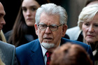 Rolf Harris on trial for indecent assault charges. Photo / Matt Dunham
