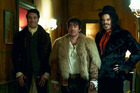 Taika Waititi, Jonathon Brugh and Jemaine Clement in What We Do in the Shadows.
