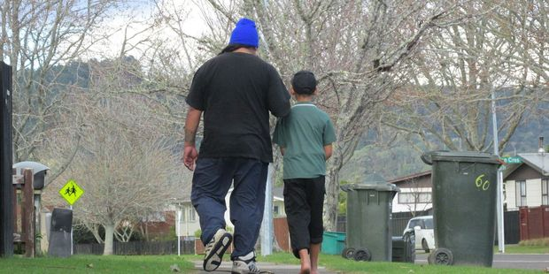 FATHER AND SON: Skip Taitapanui and his son hope to go to a school camp together. PHOTO/KATEE SHANKS