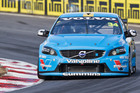 Swedish touring car driver Robert Dahlgren (below), and on the track (above) in the Valvoline Racing Volvo S60, is still finding his feet in the Australian V8 Supercars championship. Pictures / Greg Bowker / Getty Images