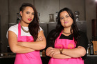 Masterchef NZ winners Karena and Kasey Bird.
