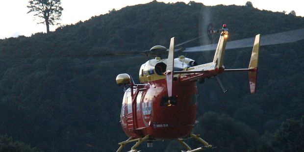 The Westpac Rescue Helicopter has been scrambled after reports of a light plane crash off Canterbury. Photo / APN
