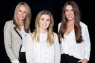 Ecoya's girl-power team Donna Marris, Claire Barnes and Kate Hemus. Photo / Carolyn Haslett.
