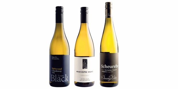 Black Estate Netherwood Waipara Valley Chardonnay 2013; Bishop's Head Waipara Valley Chenin Blanc 2011; Dancing Water Tier Garden Waipara Valley Scheurebe 2010.