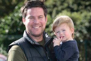 Shane Gault says son Charlie, 16 months, loves to eat fruit. Photo / Chris Loufte
