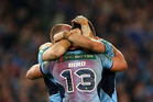 The Blues celebrate winning the State of Origin series. Photo / Getty Images