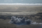 A Defence Force explosive test carried out today. Photo / Defence Force